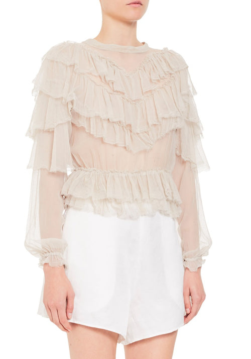 COSETTE RUFFLE TOP BONE