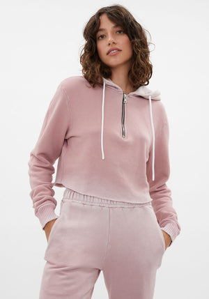 Brooklyn Crop Zip Vintage Rose