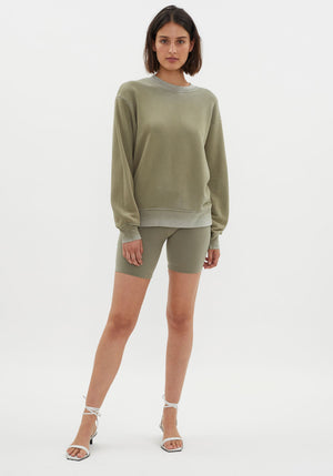 Brooklyn Oversized Crew Vintage Basil