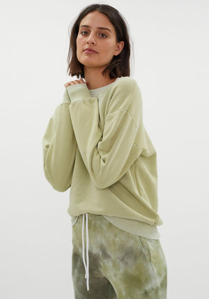 Brooklyn Oversized Crew Vintage Melon Dew