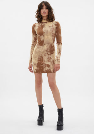 Ibiza Mini Dress Java Splatter