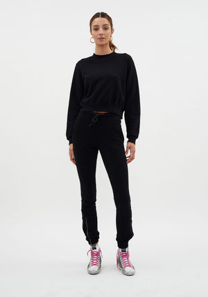 Milan Zip Jogger Black