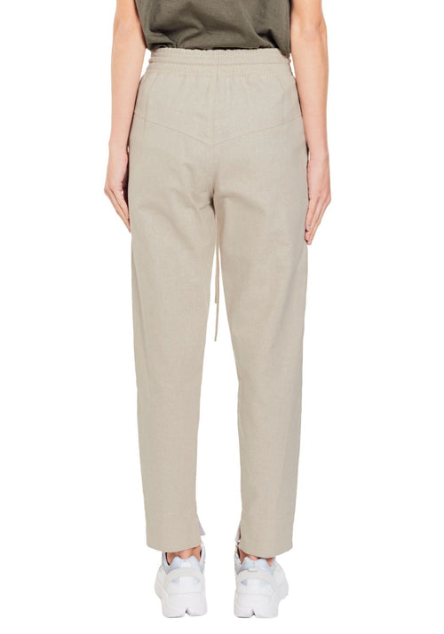 Cotton Linen Waisted Pant