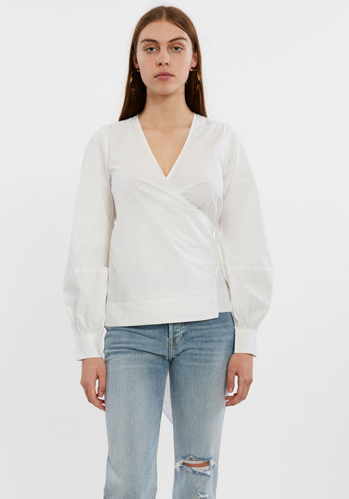 Cotton Poplin Tie Top