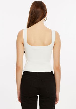 Crepe Knit Tank Top