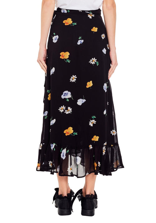 Dainty Georgette Wrap Skirt