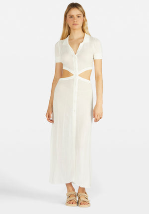 Athena Dress Off White