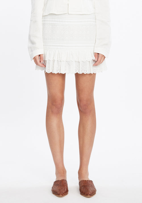 Dilone Embroidered Mini Skirt