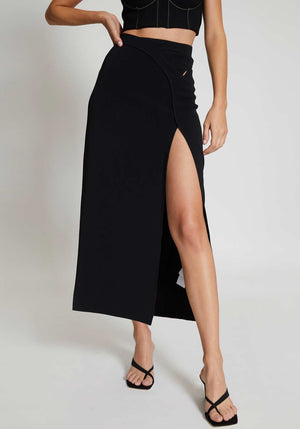 Interlock Skirt Black