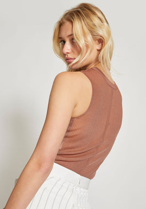Outline Cropped Tee Copper