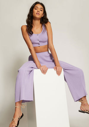 Pinnacle Pleat Crop Violet