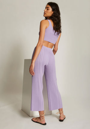 Pinnacle Pleat Pant Violet