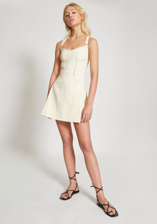 Stitch Tuck Mini Dress Butter