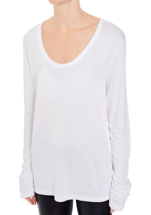 Drapey Jersey Long Sleeve Tee