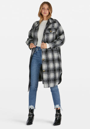 Abi Lined Coat Grey/Black Check