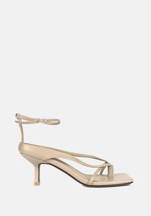 Anaise Leather Sandal Beige