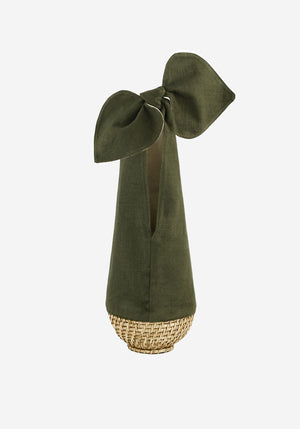 Knot Basket Bag Green Jute