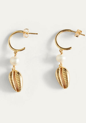 Eris Cowrie Earrings