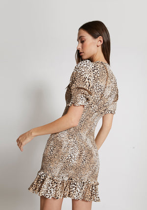 Margherita Mini Dress Animal