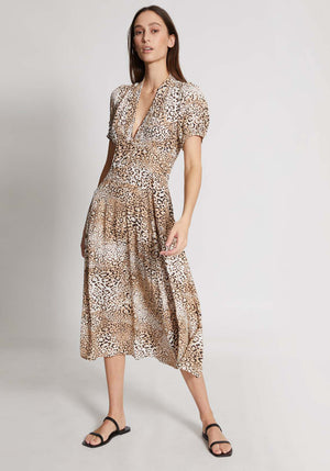 Meadows Midi Dress Animal