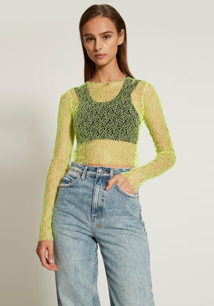 Crop Top Acid Mesh