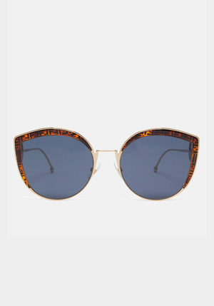 F is Fendi Cateye Dark Tortoise - Fendi - Tuchuzy