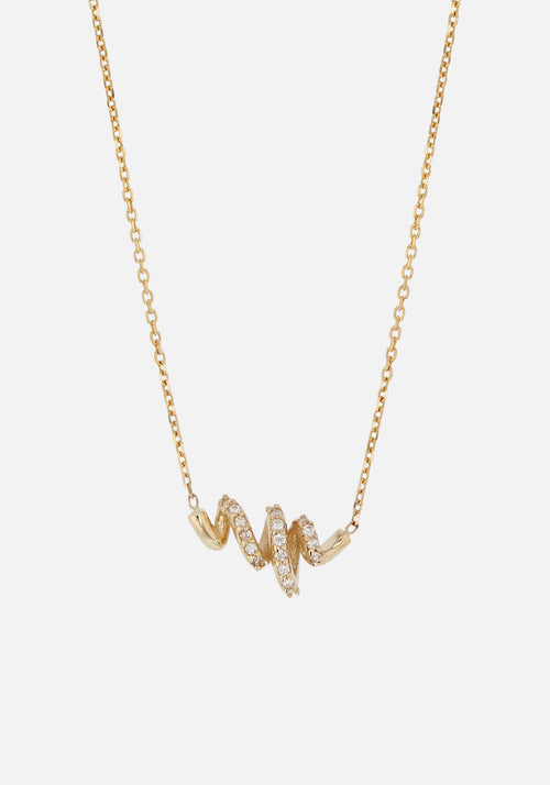 Fine Bound Diamond Necklace Gold