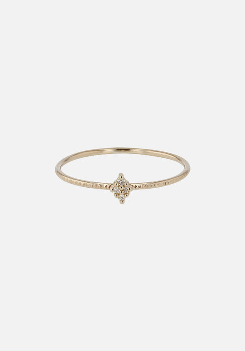 Fine Rhombus Diamond Ring Gold