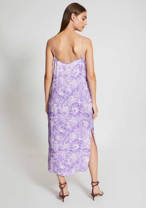 Heavy Satin Dress Violet Tulip