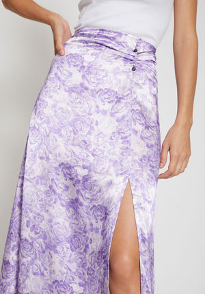 Heavy Satin Skirt Violet Tulip