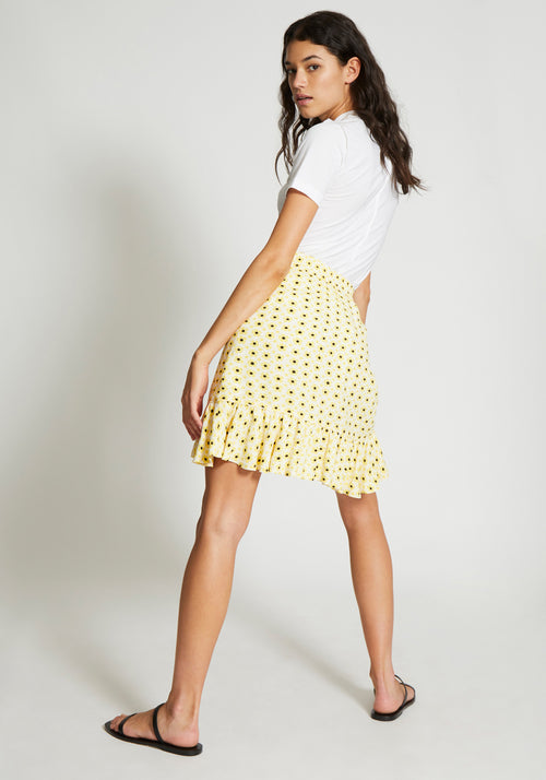 Printed Crepe Skirt