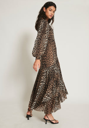 Printed Leopard Wrap Dress