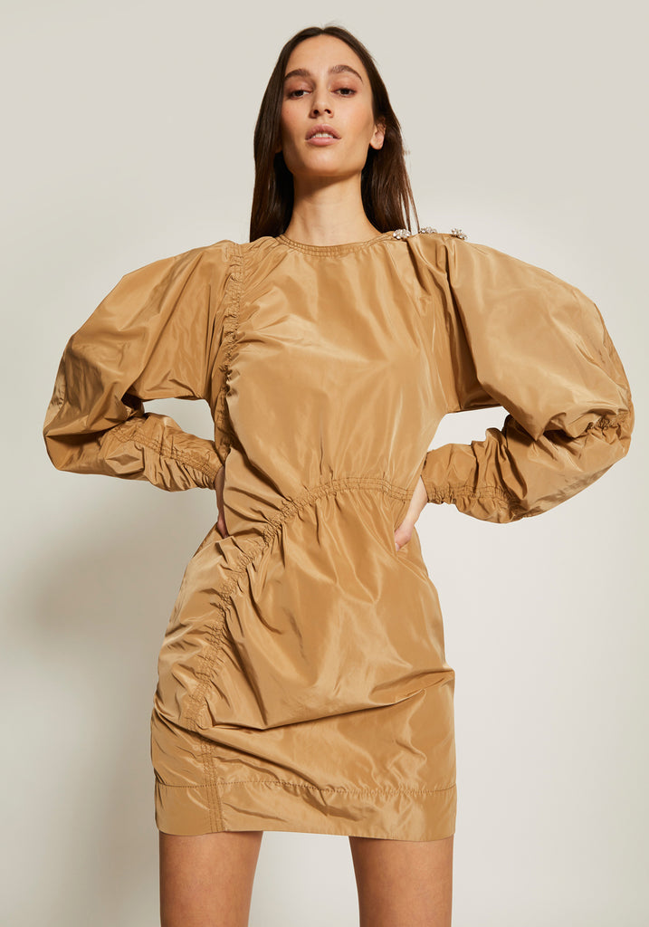 Recycled Polyester Dress Tannin Ganni Tuchuzy