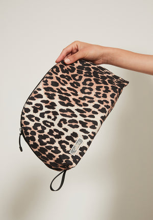 Tech Fabric Toiletry Bag Leopard