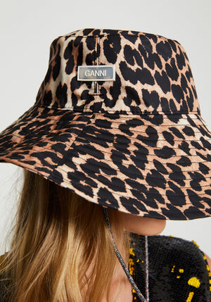 Tech Fabric Bucket Hat Leopard