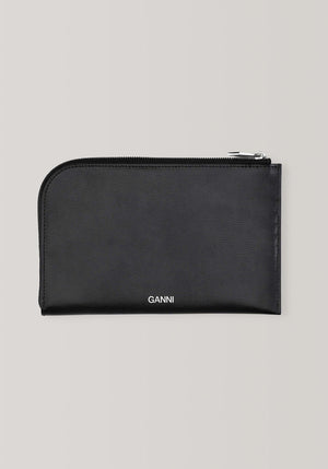 Texturised Leather Pouch Black