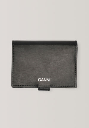 Texturised Leather Mini Wallet Black