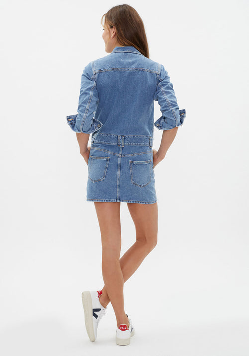 Washed Denim Dress Washed Indigo