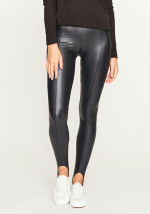 Glazed Jersey Stirrup Legging