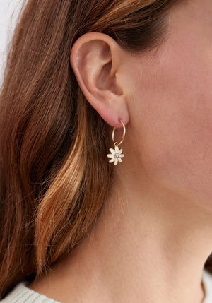 Daisy Chain Hoop Earring Gold