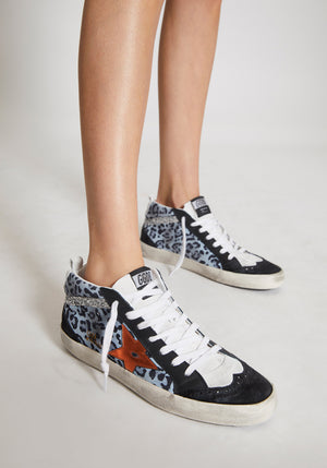 Mid Star Sneakers Leopard/Copper Star