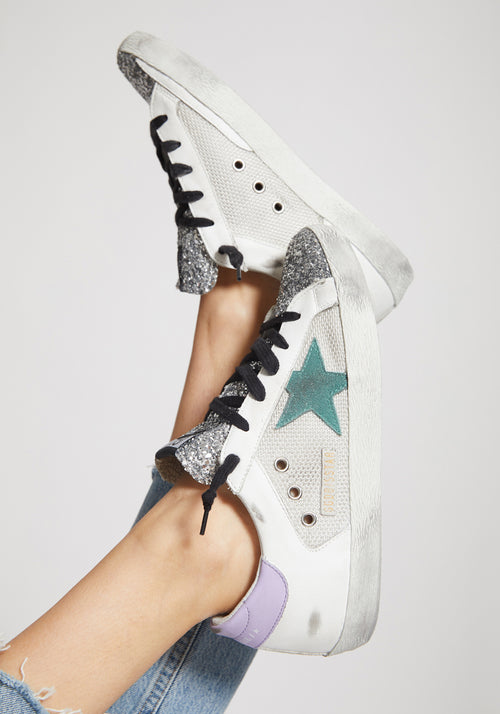 Superstar Sneakers Silver Glitter/Anise Star