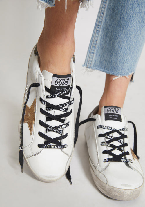 Superstar Sneakers White/Gold Coco Glitter