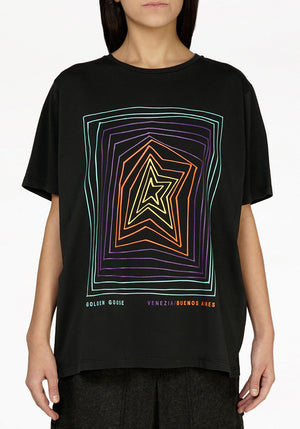Aira Boyfriend Short Sleeve Graphic Star