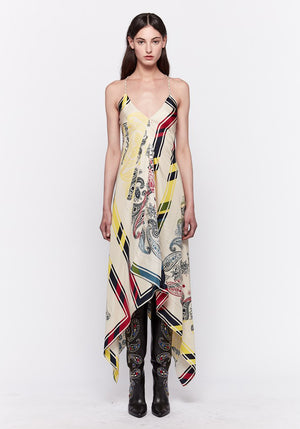 Draped Blanket Dress Bandana Print