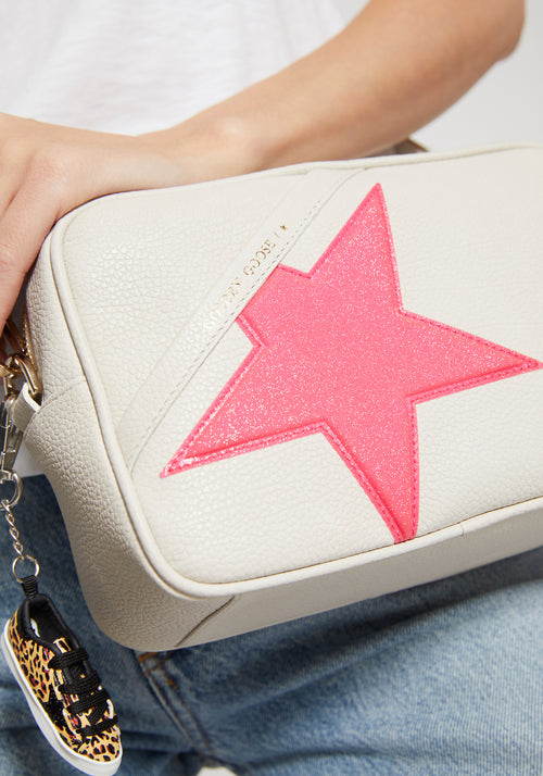 Star Bag White/Fluro Pink