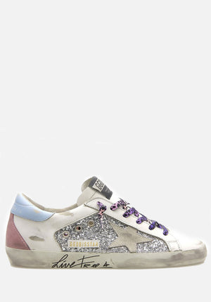 Superstar Sneakers Silver/White/Aquamarine