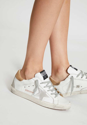 Superstar Sneakers White/Brown Lizard