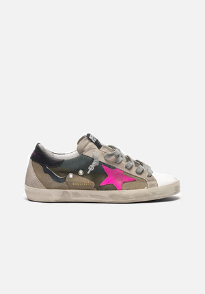 Superstar Sneakers Camo Canvas/Fuchsia Star