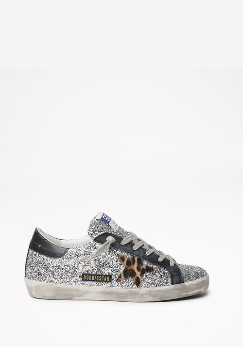 Superstar Sneaker Silver/Beige Brown Leo/Black